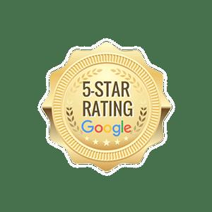 Calificación de 5 estrellas de Google